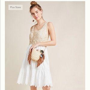 🆕 Anthropologie Beckett Crochet Eyelet Dress